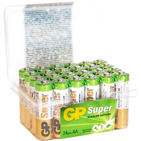 Alkaliparistot GP Batteries Super Alkaline 15A/LR06 AA, POWERCASE, 24 kpl pakkaus