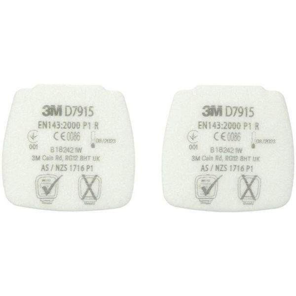 Partikelfilter 3M Secure Click D7915 till 800-serien, 4-pack P1 R