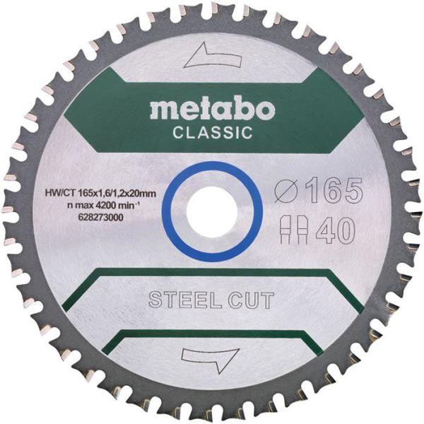 Sågklinga Metabo 628273000 165x20 mm Z40 WZ 4