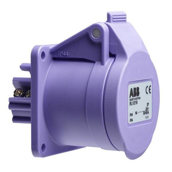 Vägguttag ABB 2CMA100973R1000 2-polig, IP44 Lila, 0 h, 54 mm