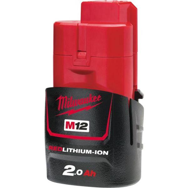 Litiumioniakku Milwaukee M12 B2 12V 2,0Ah