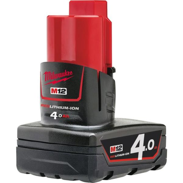 Li-Ion batteri Milwaukee M12 B4 12V 4,0Ah