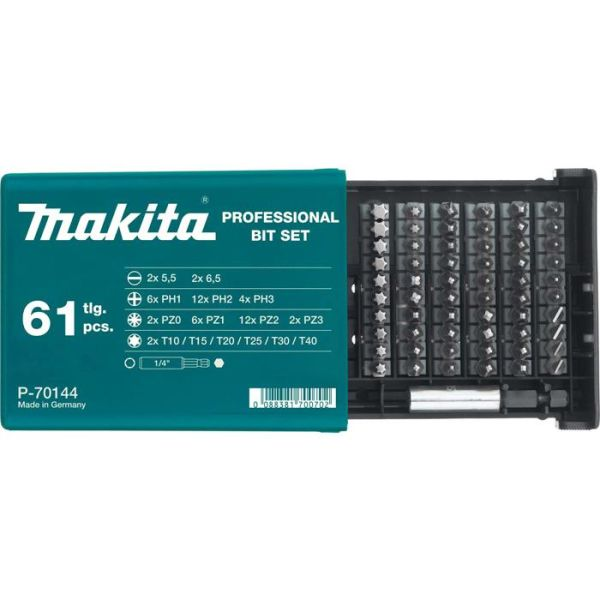Bitssats Makita P-70144 61 delar