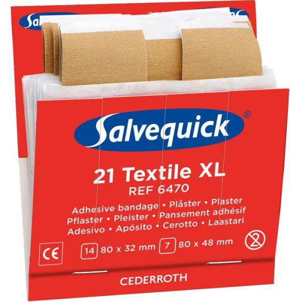 Tekstilplaster XL Salvequick 6470 6x21st