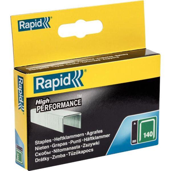 Bredtrådsklammer Rapid Nr 140 Stål 2000-pack 6 mm