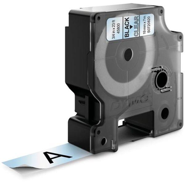 Tejp DYMO Standard D1 19mm Svart på transparent