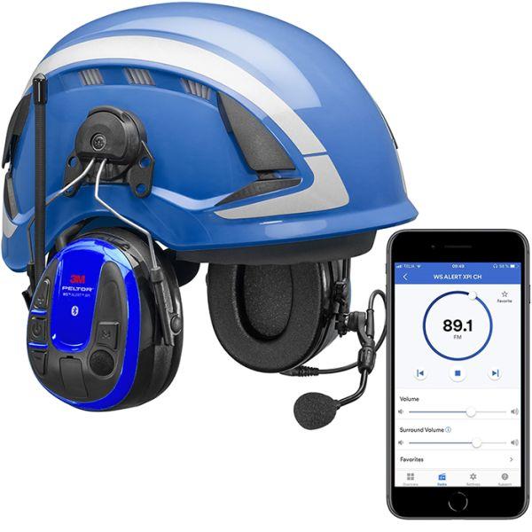 Kuulonsuojainpaketti 3M Peltor WS Alert XPI kypärällä ja sovelluksella