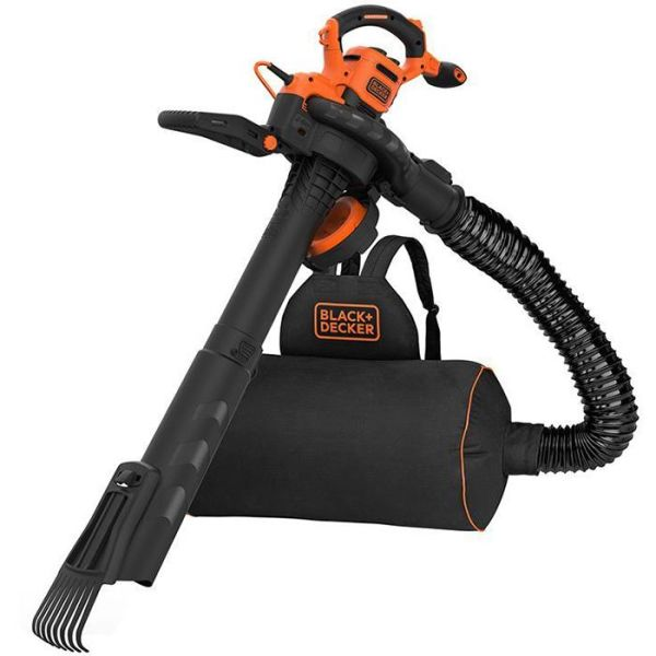 Løvblåser Black & Decker BEBLV301-QS med rake