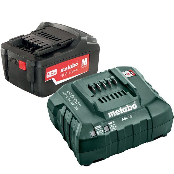 Latauspaketti Metabo Li-Power 18V 5,2Ah, ASC 55 12-36 V