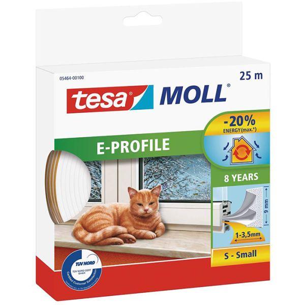 Tetningstape Tesa E-list 05464-00100-00 EPDM, 25 m, 9 mm x 4 mm Hvit