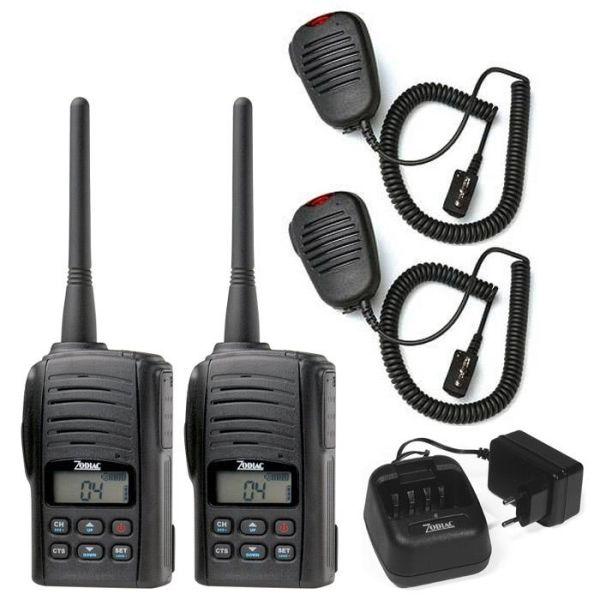 Komradiopaket Zodiac Freetalk Pro 2 enheter med laddare