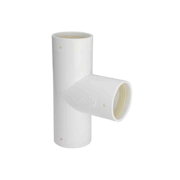 T-rör Faluplast 3003054172 med gummitätning 40 mm