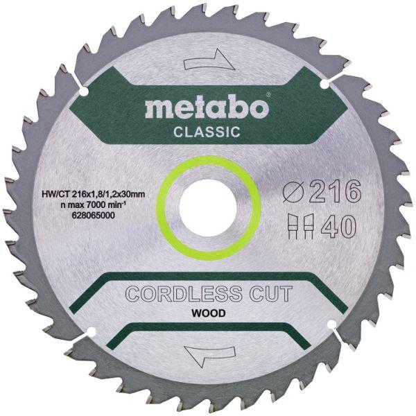 Sahanterä Metabo 628065000 216x30 mm, 40T