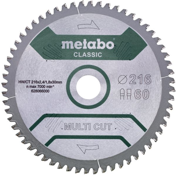 Sahanterä Metabo 628066000 216x30 mm, 60T