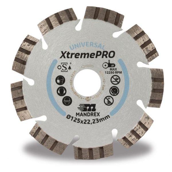 Diamantkapskiva Mandrex Universal XtremePRO  115 mm