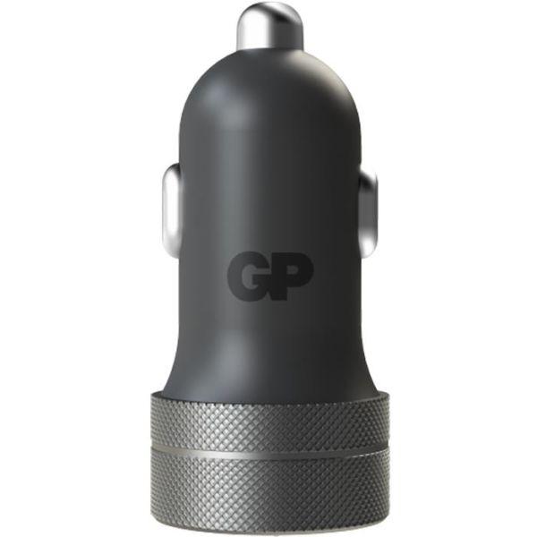 Biladapter GP Batteries CC51 1 x USB A, 1 x USB C