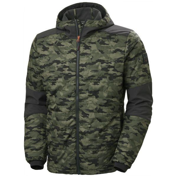 H/H Workwear Kensington Softshelljacka med huva kamouflage M