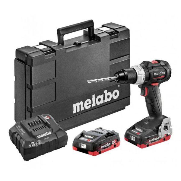 Borrskruvdragare Metabo BS 18 LT BL SE med batterier och laddare