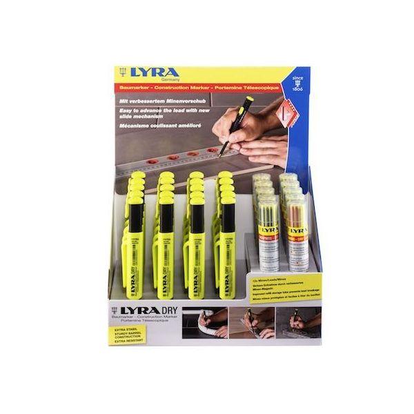 Snickarpenna Lyra Dry Profi Display 20-pack