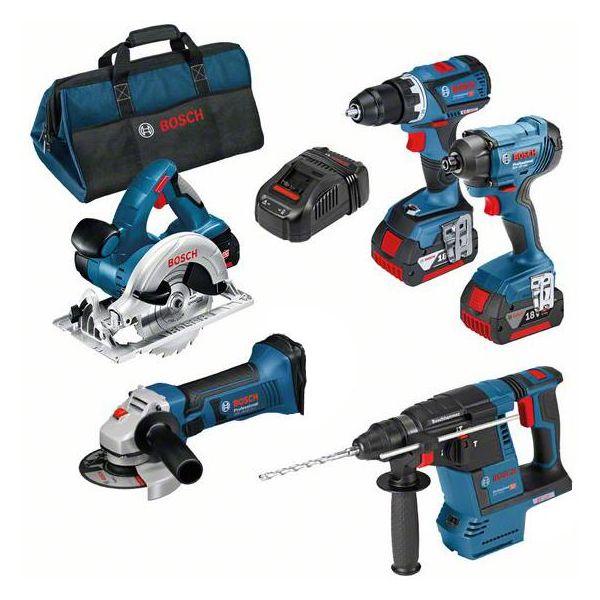 Verktøypakke Bosch 0615990K9J med veske, 5,0 Ah batterier og lader
