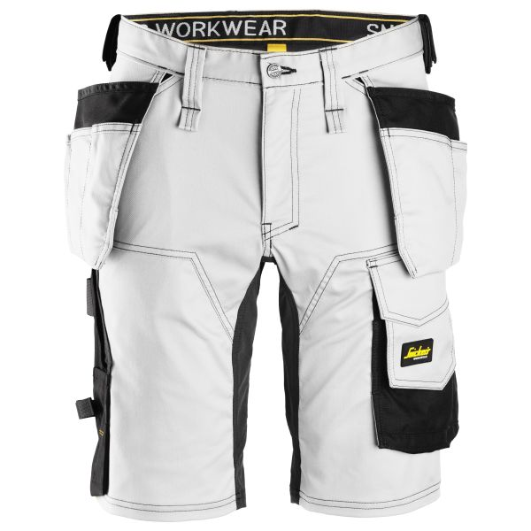Snickers 6141 AllroundWork Shorts vit svart C48