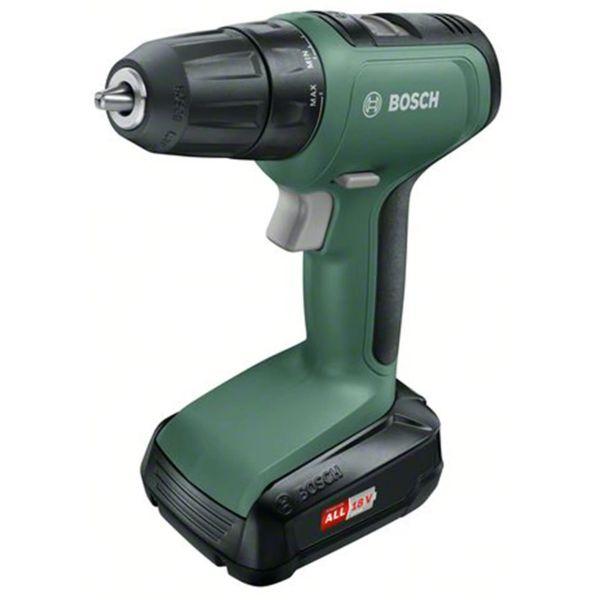 Borrskruvdragare Bosch DIY Universal Drill med väska, 1,5Ah batteri och laddare