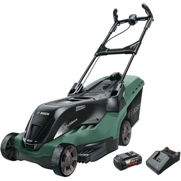 Gräsklippare Bosch DIY Advanced Rotak 36-850 med 6,0Ah batteri och laddare