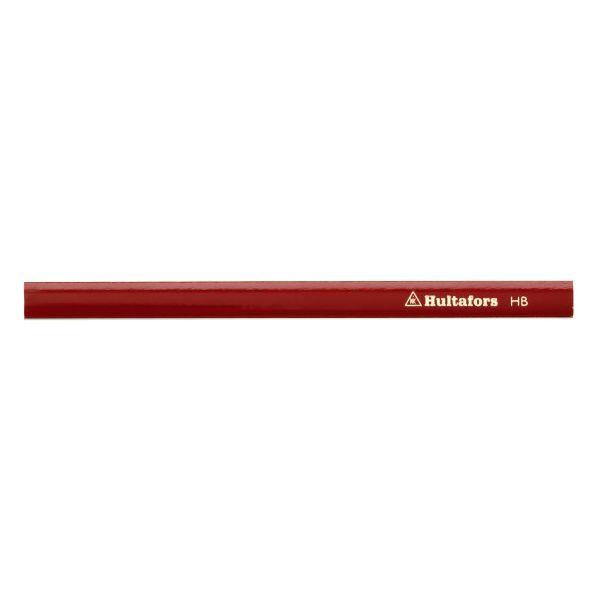 Snickarpenna Hultafors SNP 18 RED medelhård grafit Röd