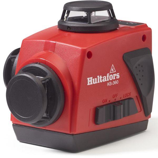 Korslaser Hultafors H3x360 med röd laserstråle