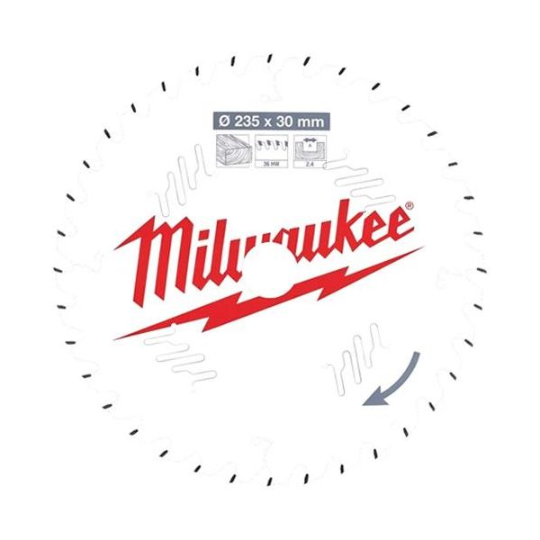 Sågklinga Milwaukee CSB P W 235x2,4x30 mm, 36T