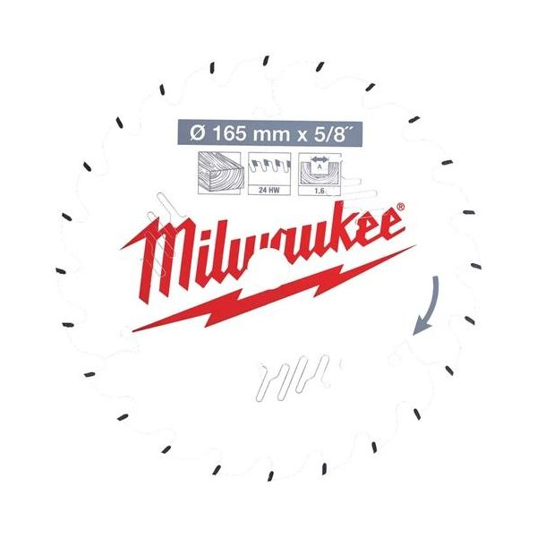 Sågklinga Milwaukee CSB P W 165x1,6x15,87 mm, 24T