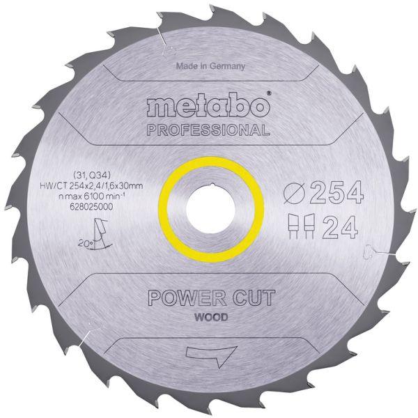 Sahanterä Metabo 628025000 254x30 mm, 24T