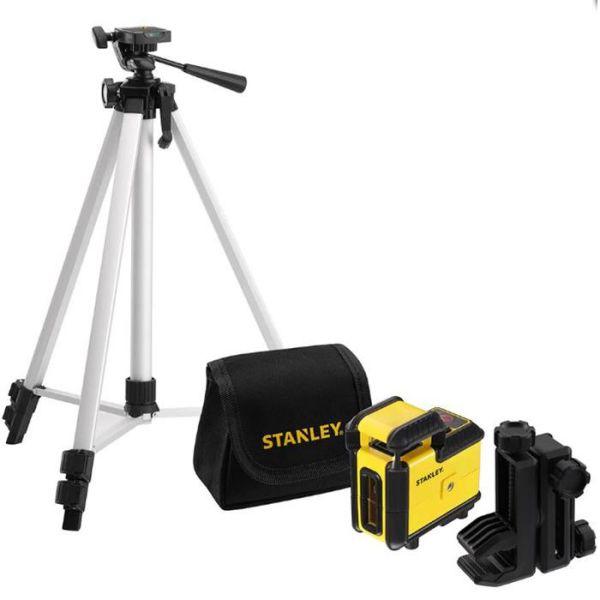 STANLEY 360 Set Korslaserpaket med röd laser stativ & väska