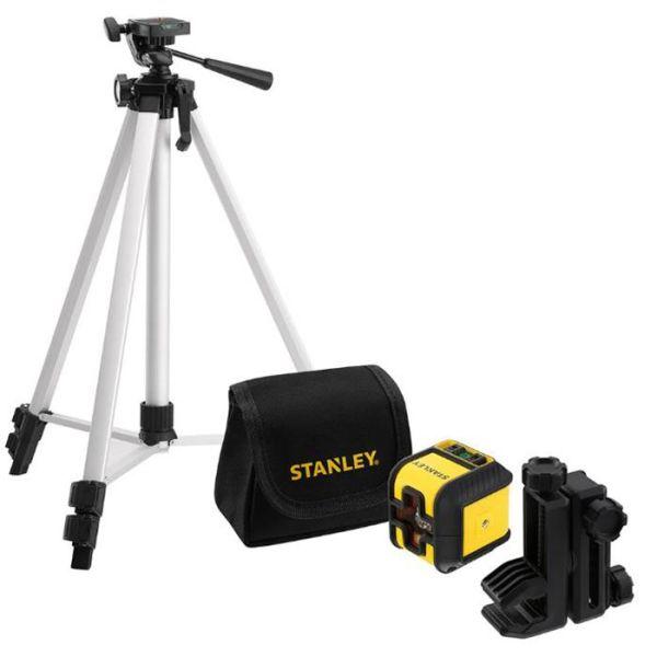 STANLEY Cubix Set Korslaserpaket med röd laser stativ & väska