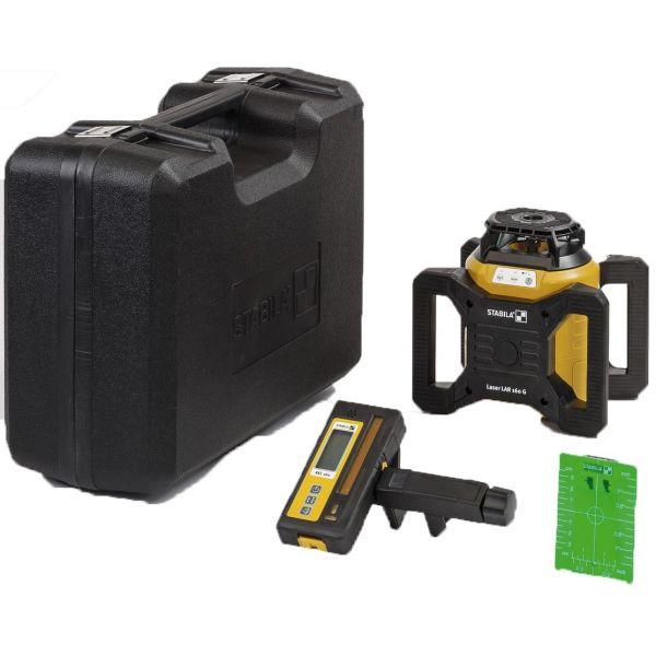 Rotationslaserpaket Stabila LAR 160 G 4 delar, med grön laser & tillbehör
