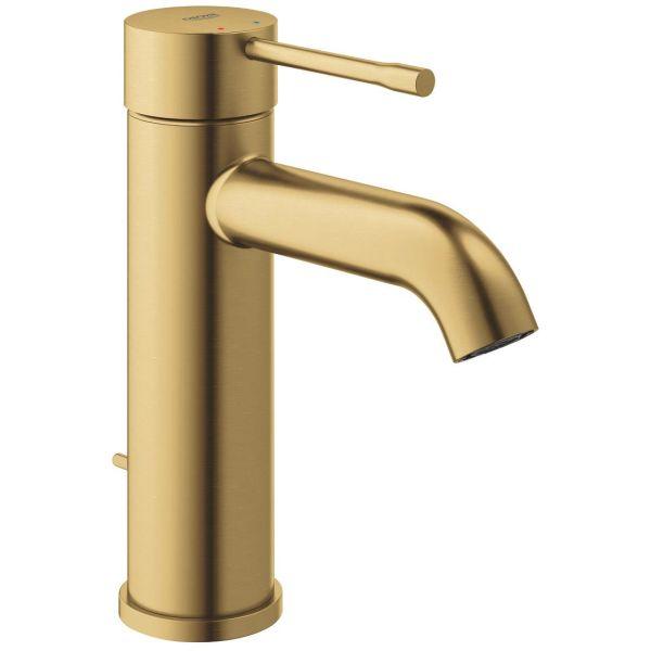 Grohe Essence Tvättställsblandare med lyftventil borstat guld