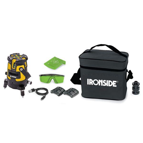 Krysslaser Ironside 102381 med grønn laser