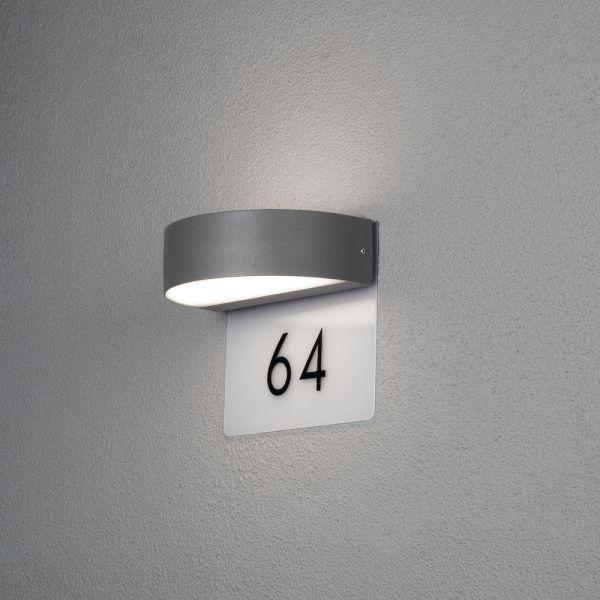 Konstsmide Monza Väggarmatur 5 W med husnummer