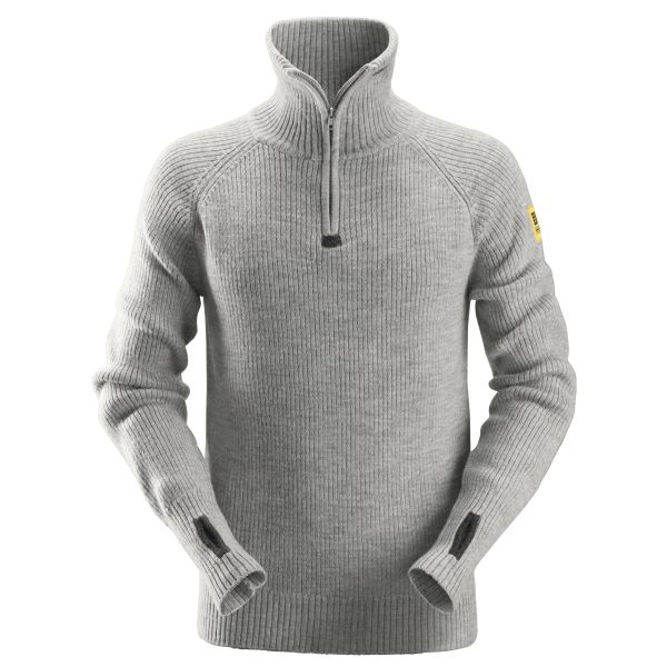 Tröja Snickers 2905 grå, med kort dragkedja XS
