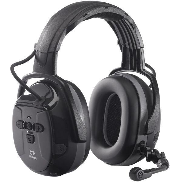 Hörselskydd Hellberg Xstream LD bommik, Bluetooth, medhörning, hjässbygel