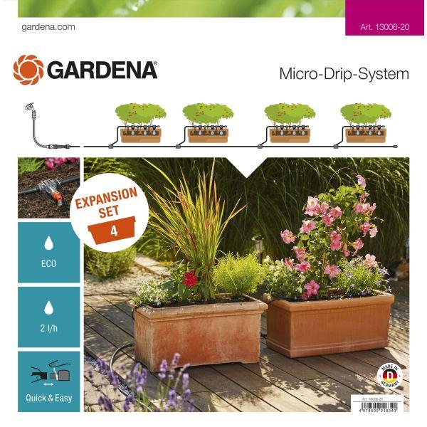 Påbyggingspakke Gardena Micro-Drip-System for plantekasser