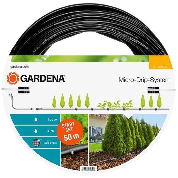 Dråpeslange Gardena Micro-Drip-System 50 m, med trykkutjevner