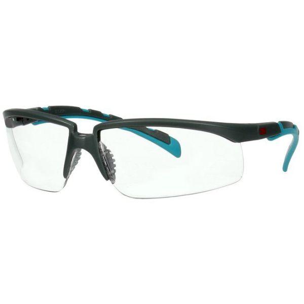 Skyddsglasögon 3M Solus 2000  Grå/blå-grön skalm, klar lins