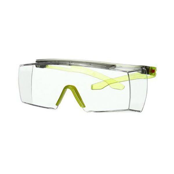 Skyddsglasögon 3M Secure fit 3700  Limegrön skalm, klar lins