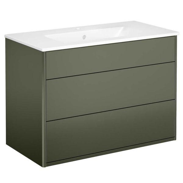 Gustavsberg Graphic Kommod grön 80 cm Med tvättställ
