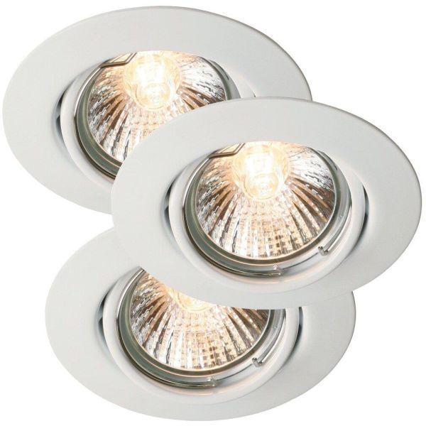 Nordlux TRITON 54540101 LED-spotlight 3-pack GU10 IP23 35W Vit