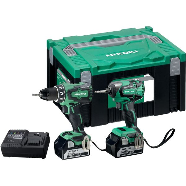 Verktøypakke HiKOKI KC18DBSL med batterier og lader