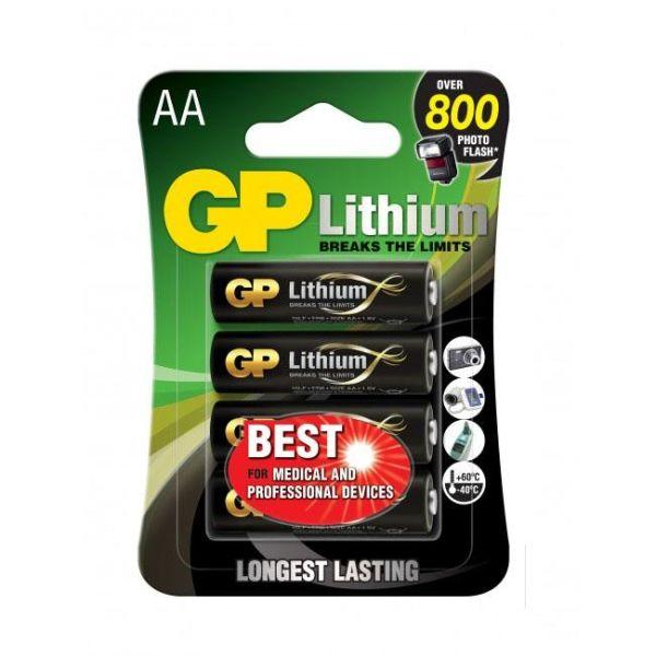 Litiumbatteri GP Batteries 15LF-2U4 1.5V, 4-pack AA