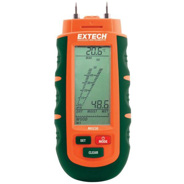 Fuktmätare Extech MO230 med 3 st. batterier