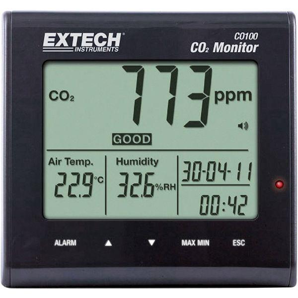 Koldioxidmätare Extech CO100 från 0 till 9 999 pp